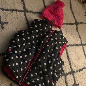 Carter's Jackets & Coats - Puffy vest and beanie